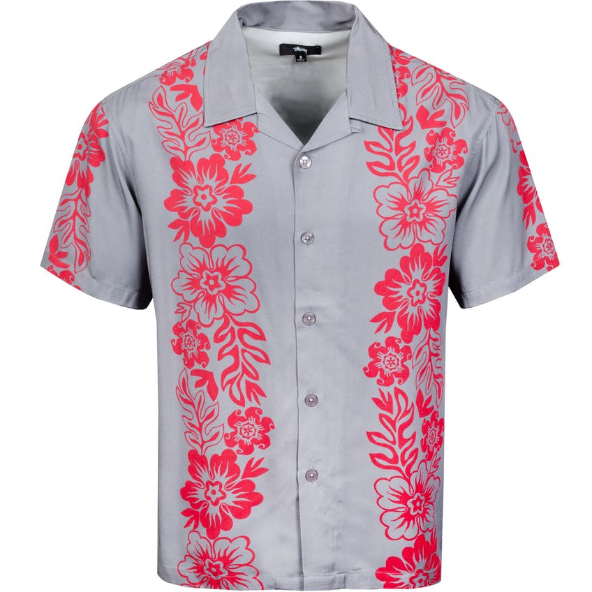 Hawaiian Pattern Shirt Grey - SS21