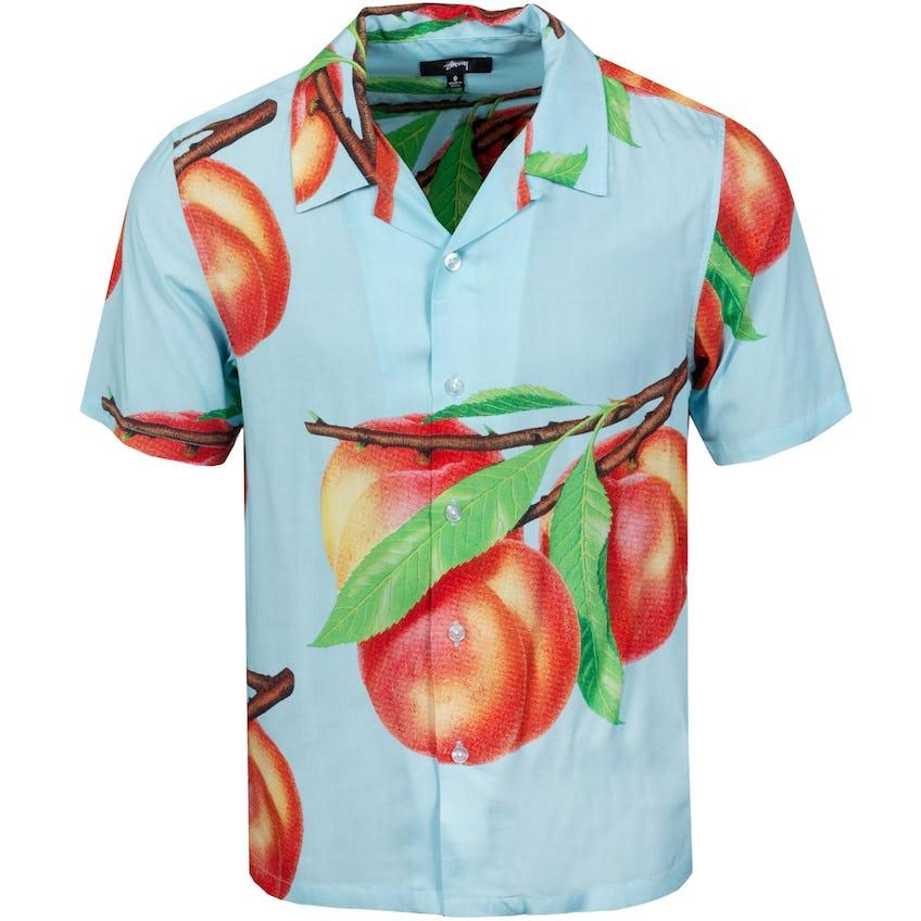 Peach Pattern Shirt Light Blue - SS21