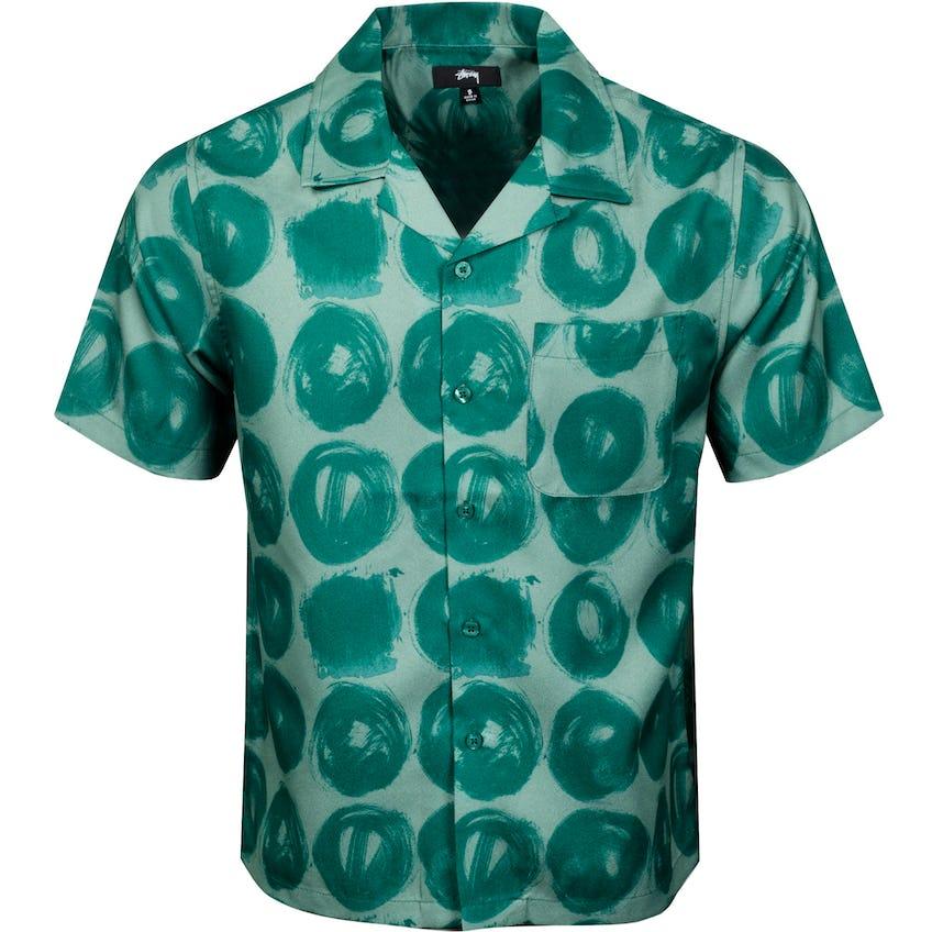 Hand Drawn Dot Shirt Green - SS21