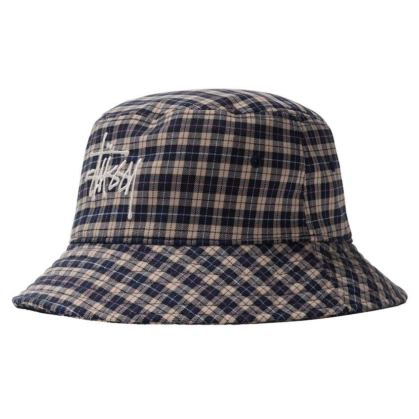 Basic Plaid Bucket Hat Off White - SS21
