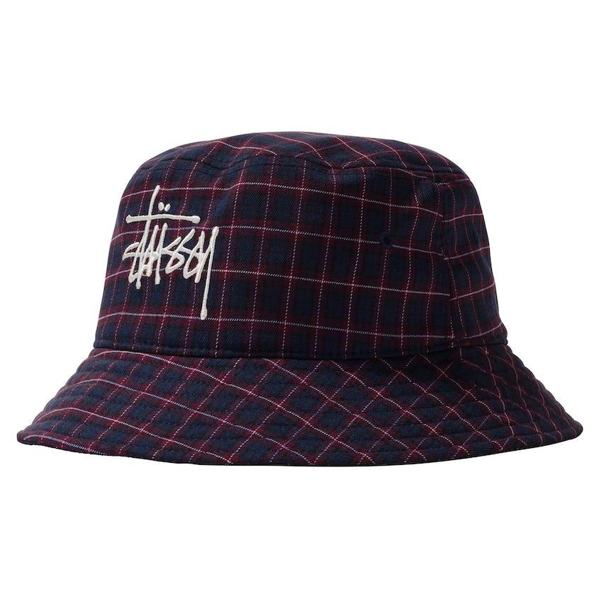 Basic Plaid Bucket Hat Navy - SS21