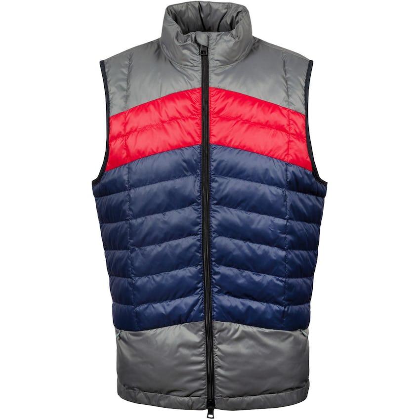 Colour Block Quilted Vest Twilight/Charcoal