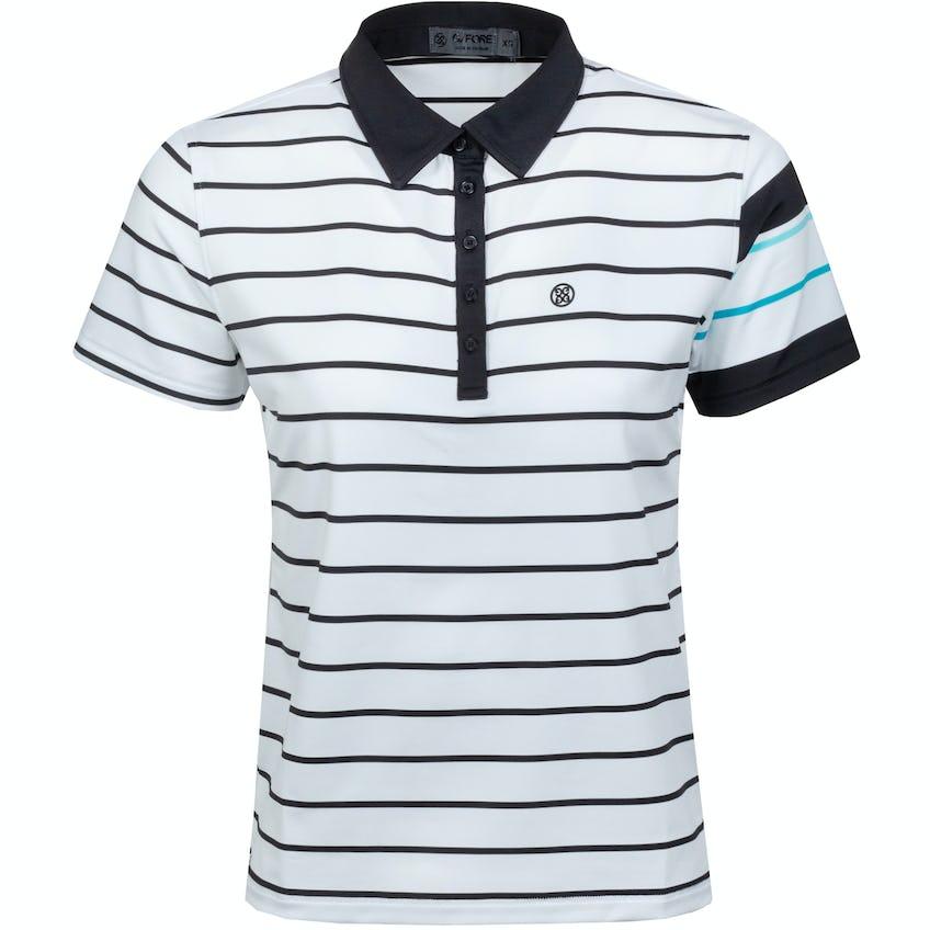 Womens Contrast Sleeve Polo Shirt Onyx/Snow - SS21