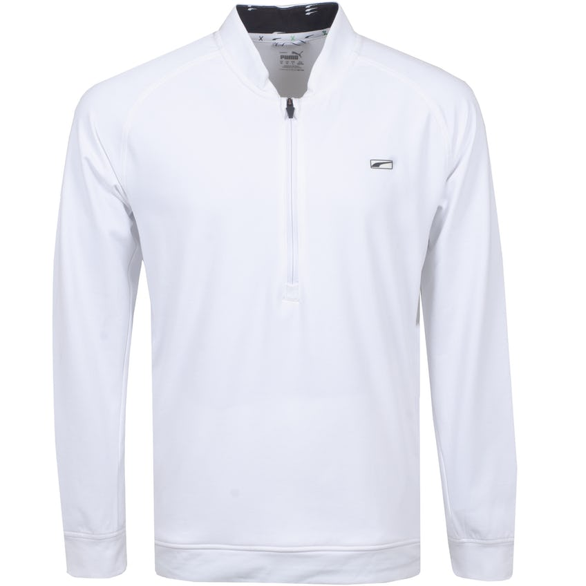 Cloudspun Moving Day Quarter Zip Bright White - SS21