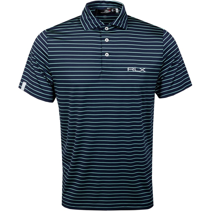 Featherweight Airflow Polo Shirt French Navy/Soft Aqua