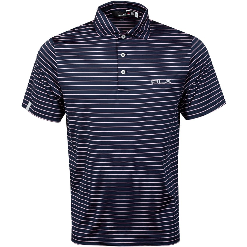Featherweight Airflow Polo Shirt French Navy/Carmel Pink 0
