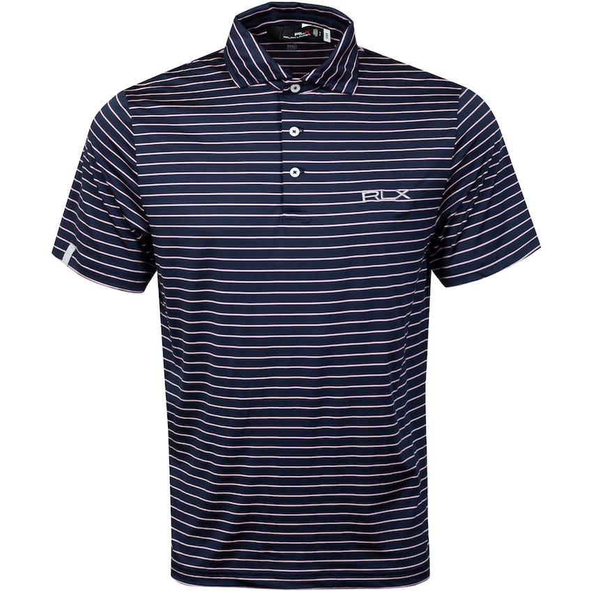 Featherweight Airflow Polo Shirt French Navy/Carmel Pink
