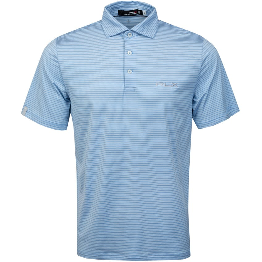 Featherweight Airflow Polo Shirt Blue Lagoon/Pure White