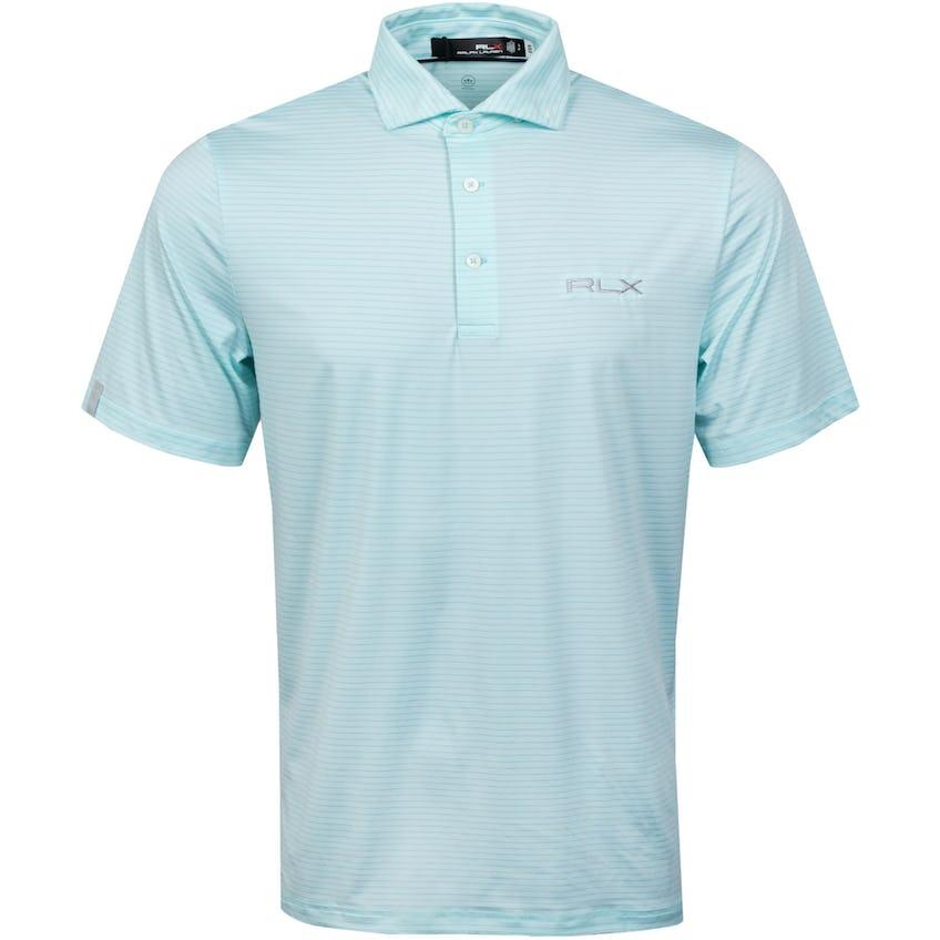 Featherweight Airflow Polo Shirt Soft Aqua/Pure White