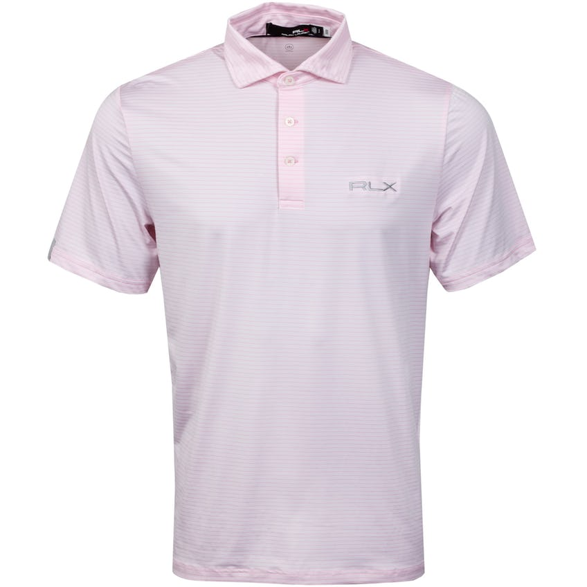 Featherweight Airflow Polo Shirt Carmel Pink/Pure White
