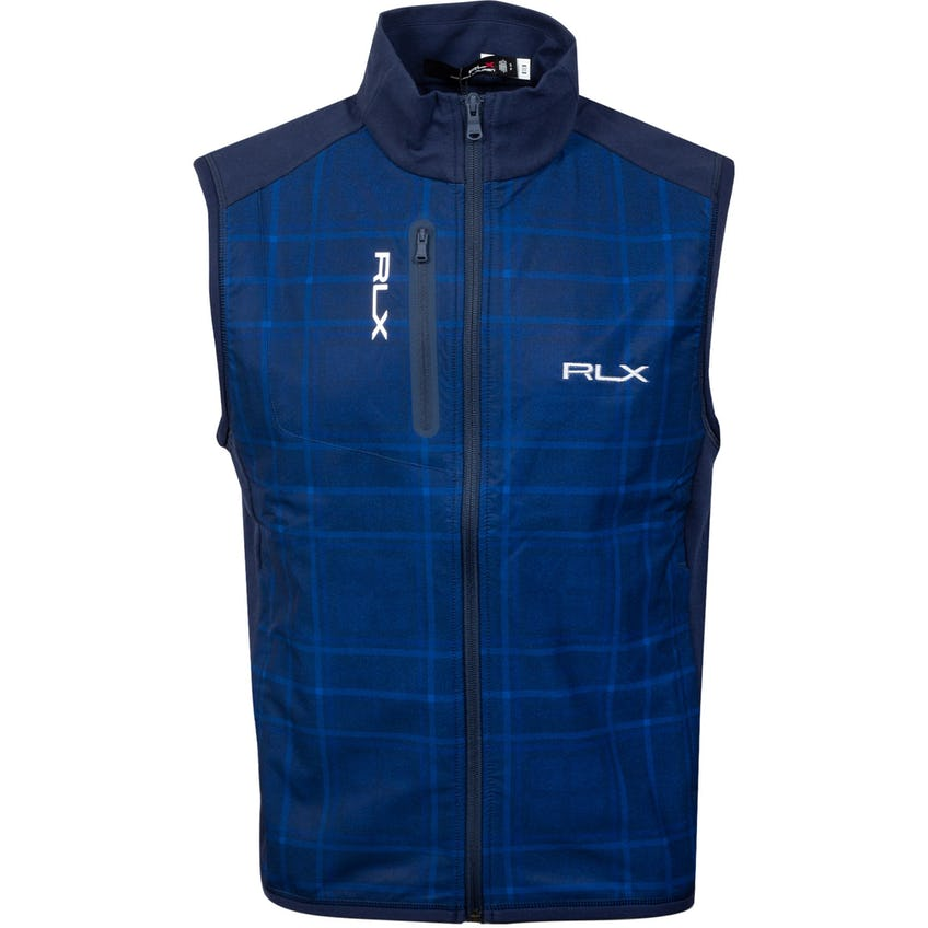 Techy Terry Vest French Navy/Printed Woven