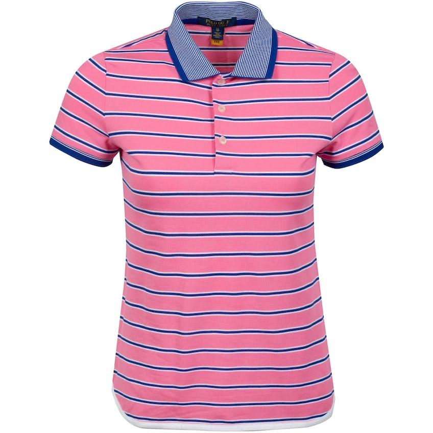 Womens Performance Lisle Shirttail Polo Shirt Lauren Pink/Royal 0