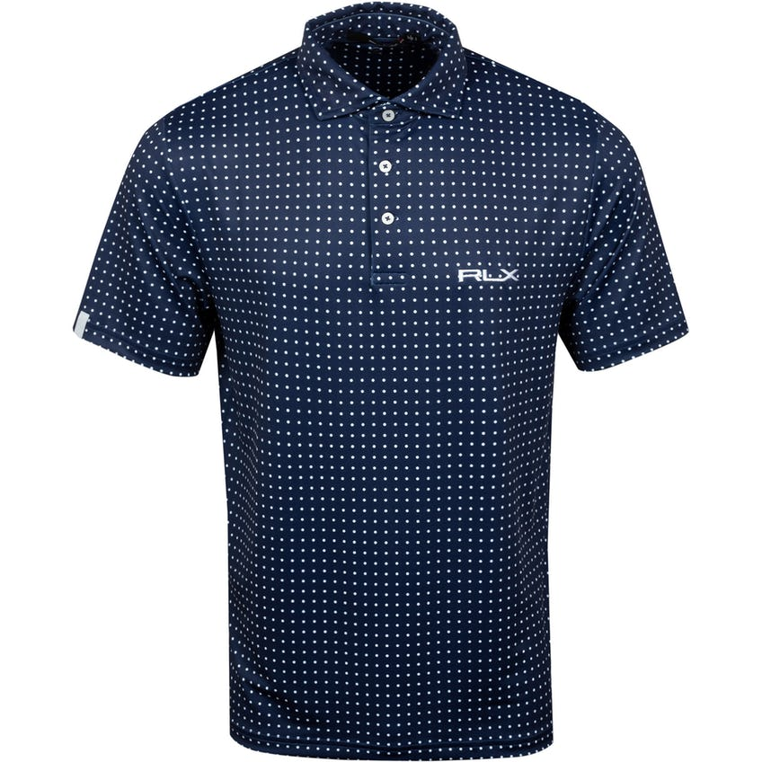 Lightweight Round Hill Dot Printed Polo Shirt - SS21