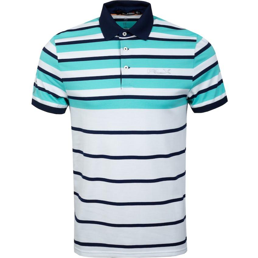 Profit Engineered Stripe Polo Shirt Club Turquoise 0