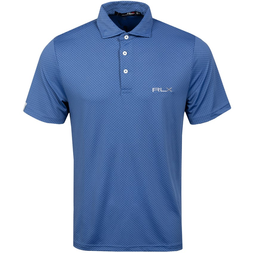 Printed Lightweight Airflow Polo Shirt Navy
