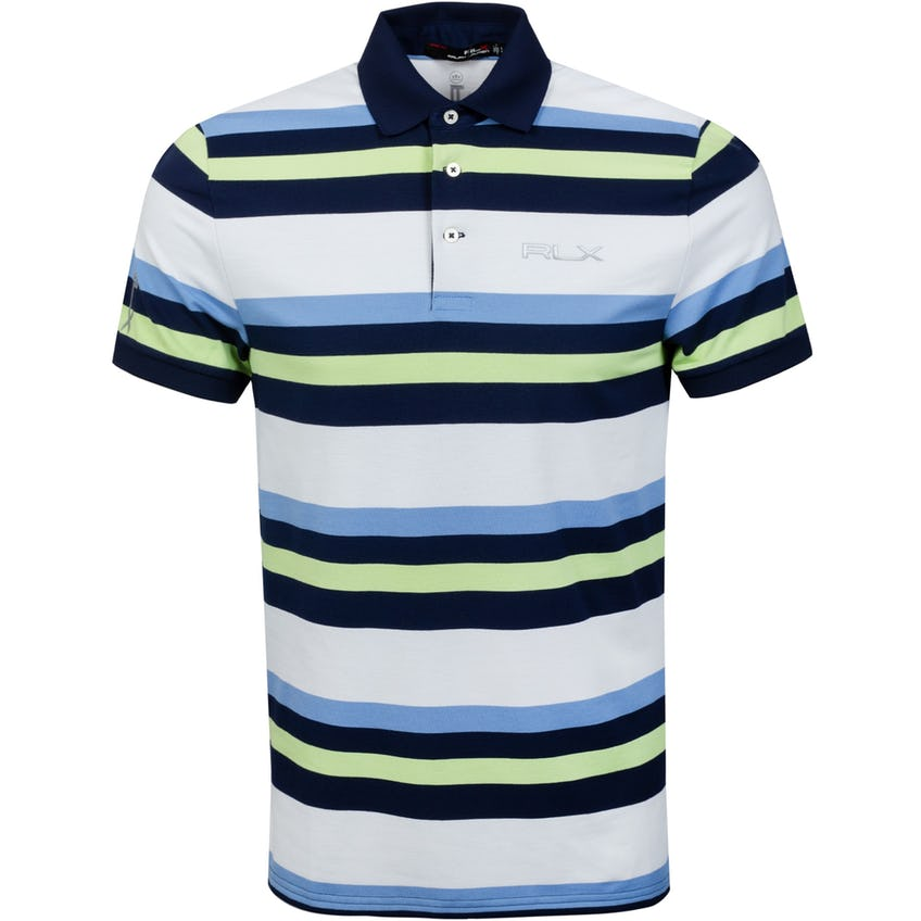 Profit Engineered Stripe Polo Shirt Topspin Lime