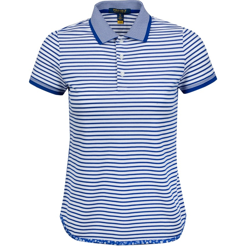 Womens Performance Lisle Shirttail Polo Shirt Trooper Royal/Pure White 0