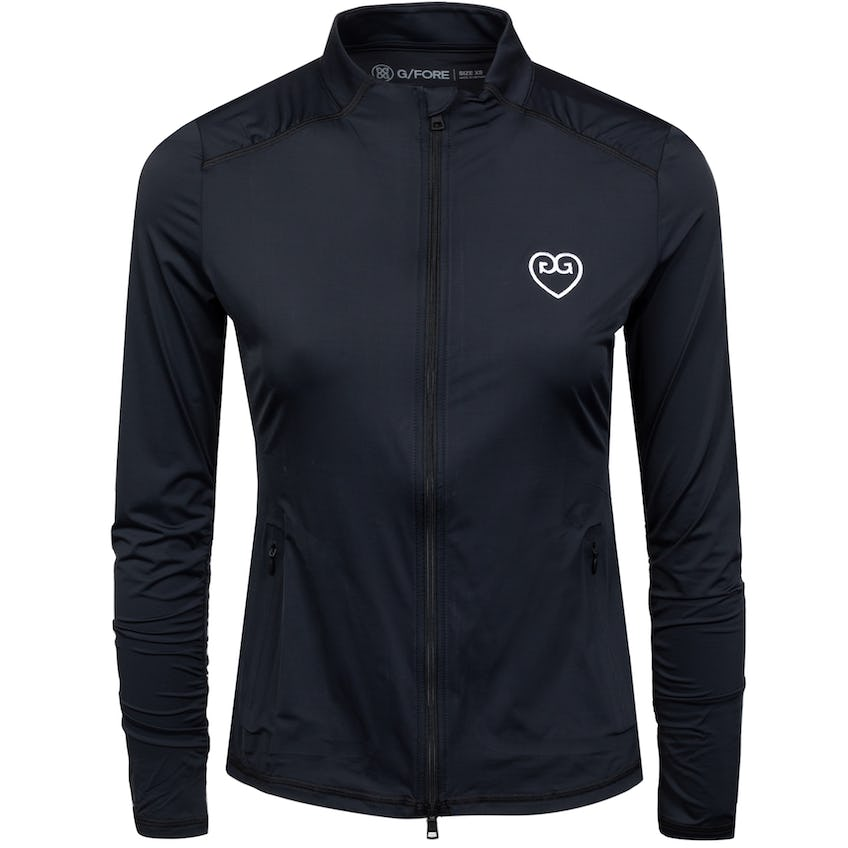 Womens Featherweight Hearts Full Zip Onyx - SS21 0
