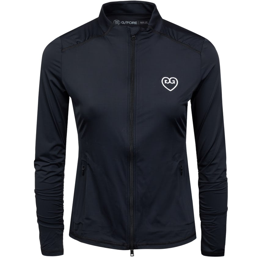 Womens Featherweight Hearts Full Zip Onyx - SS21