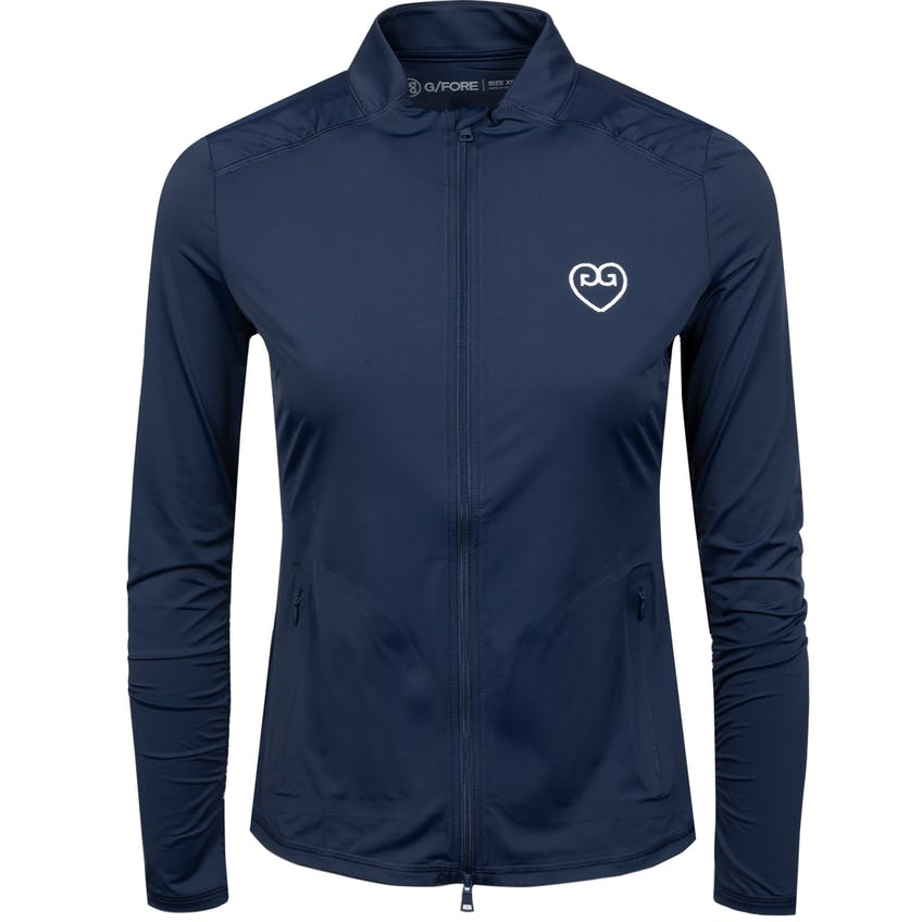 Womens Featherweight Hearts Full Zip Twilight - SS21
