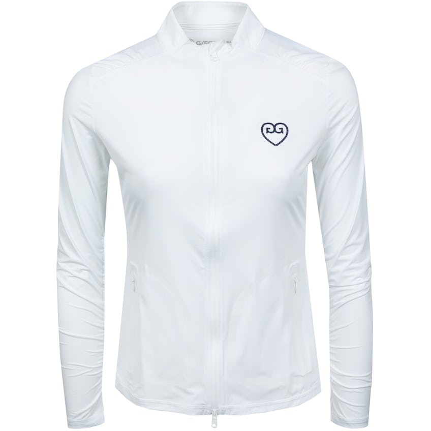 Womens Featherweight Hearts Full Zip Snow - SS21