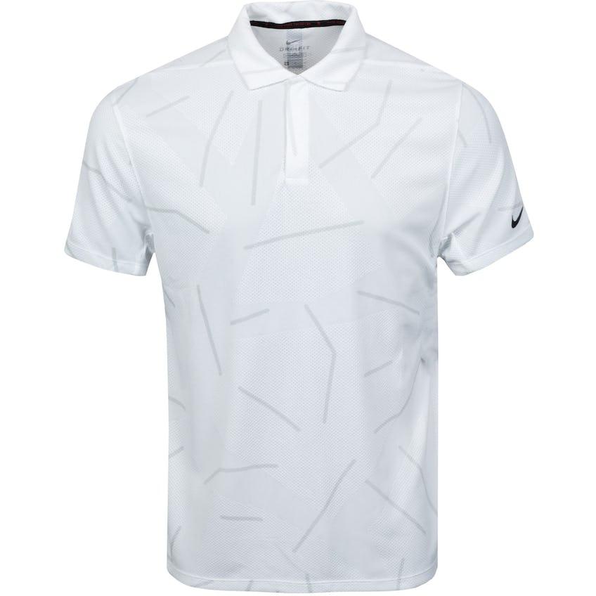 TW Dry Course Jacquard Polo White - SS21