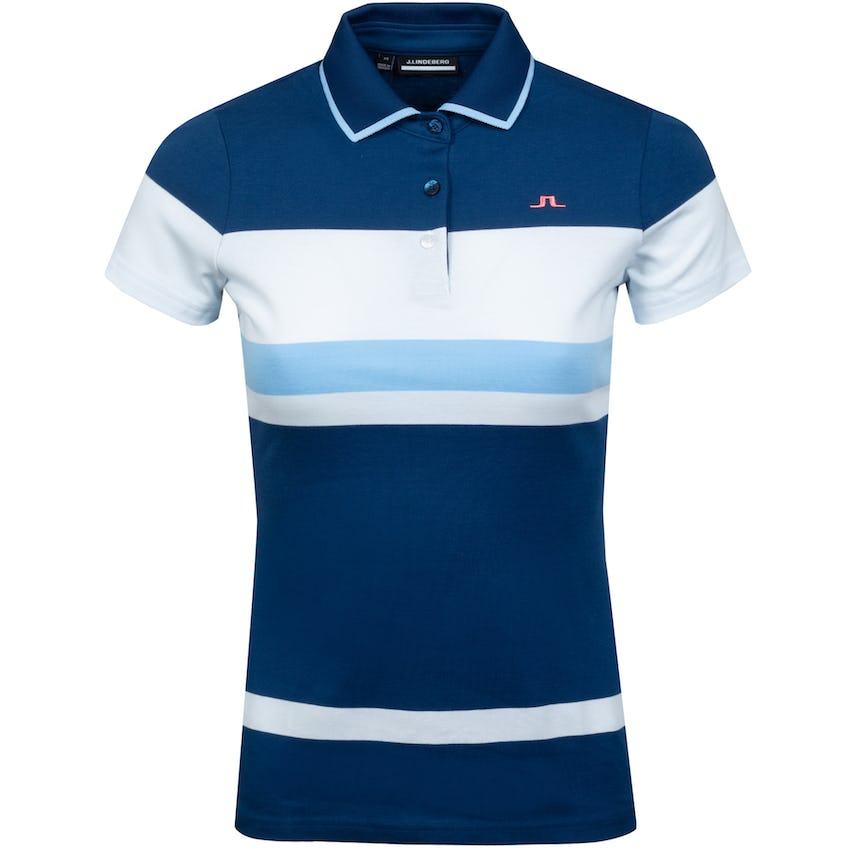 Womens Jade Cotton Jersey Polo Midnight Blue - SS21