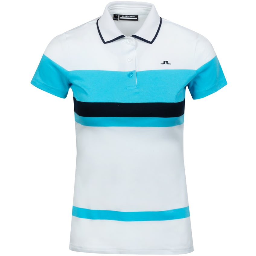 Womens Jade Cotton Jersey Polo White - SS21