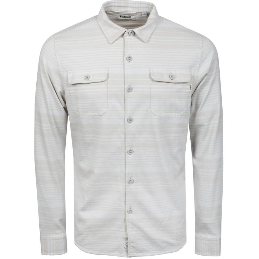 Horizon Stripe Button Up Shirt Sand