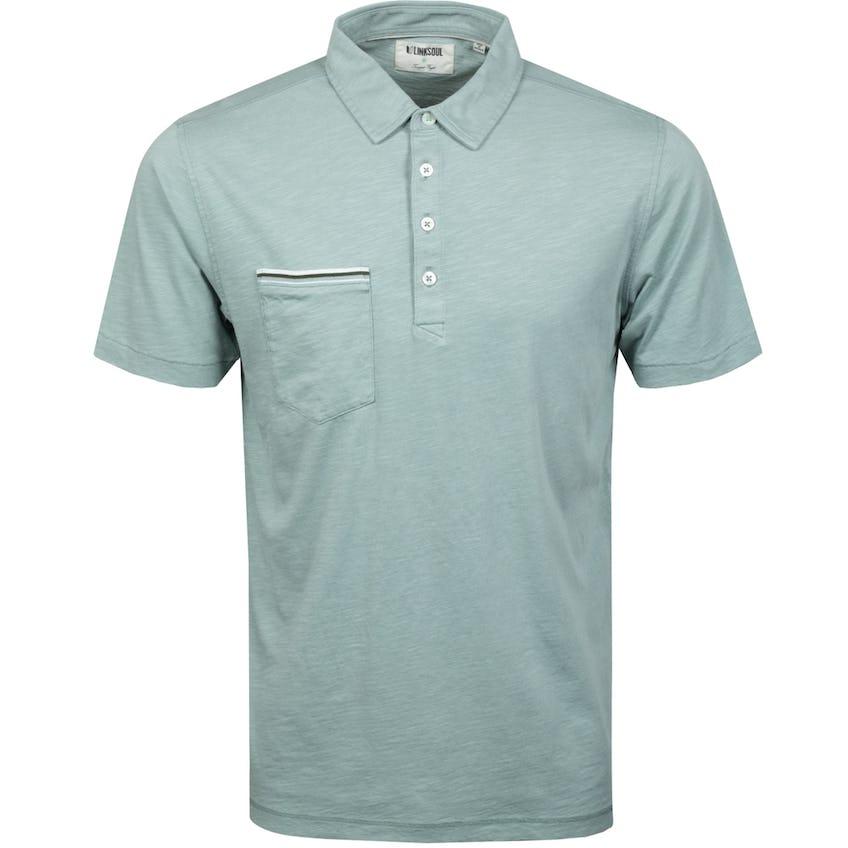 Hopper Knit Short Sleeve Polo Shirt Slate 0
