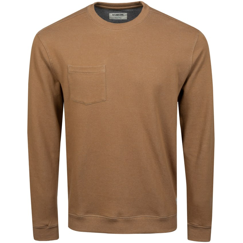 Double-Knit Pocket Crewneck Sweatshirt Buck