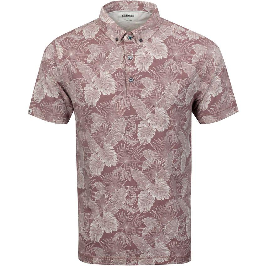 Floral Print Golf Polo Shirt Cashmere Sand Heather 0