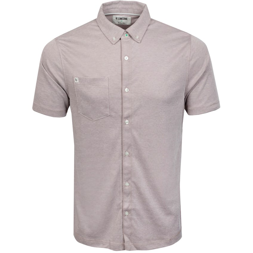 Oxford Full Button Short Sleeve Cashmere Sand