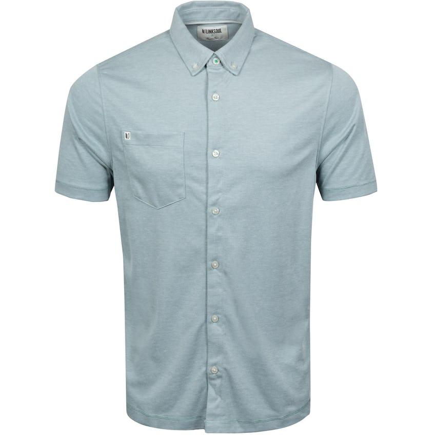 Oxford Full Button Short Sleeve Blue Slate