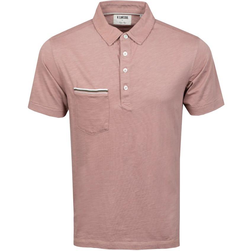 Hopper Knit Short Sleeve Polo Shirt Cashmere Sand
