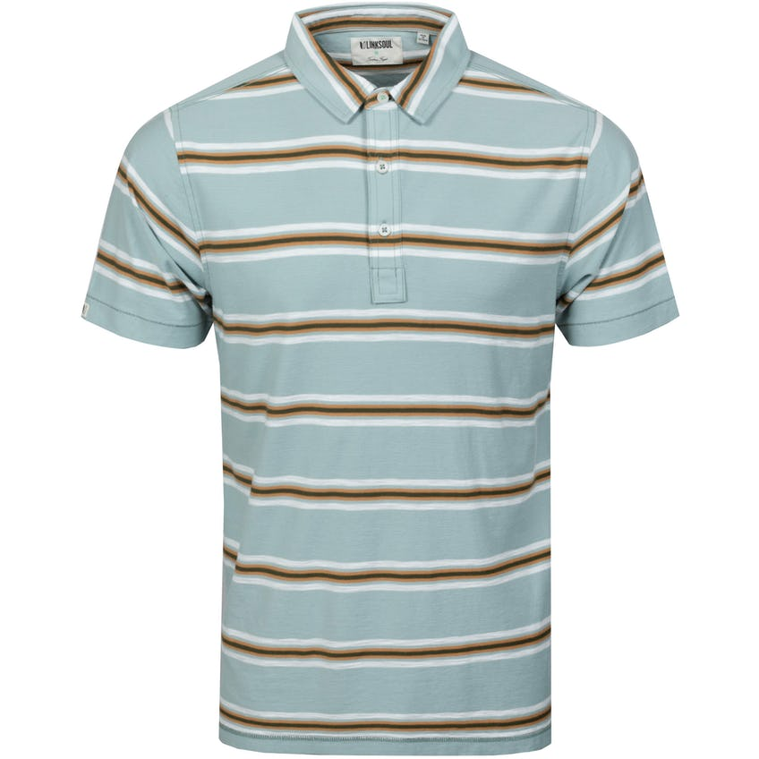 Desert Stripe Polo Shirt Slate