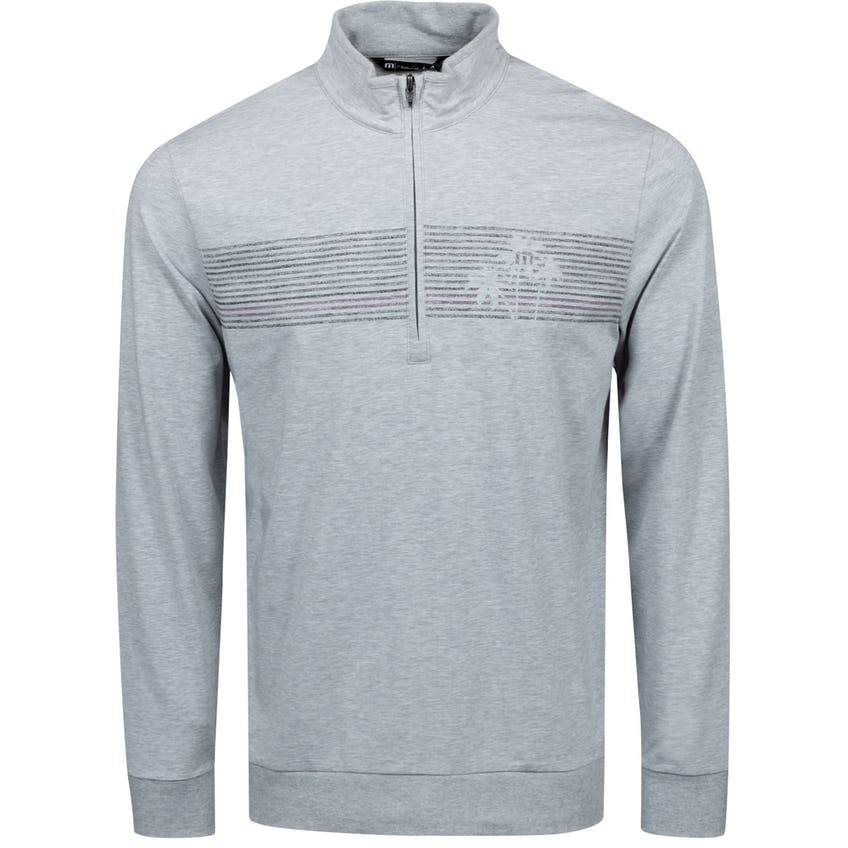 Tiki Torched Quarter Zip Heather Light Grey - SS21