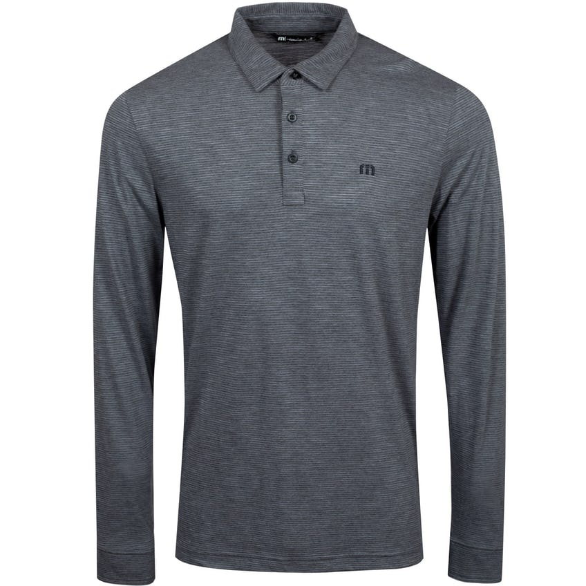 Yacht Club LS Polo Shirt Heather Medium Grey - SS21