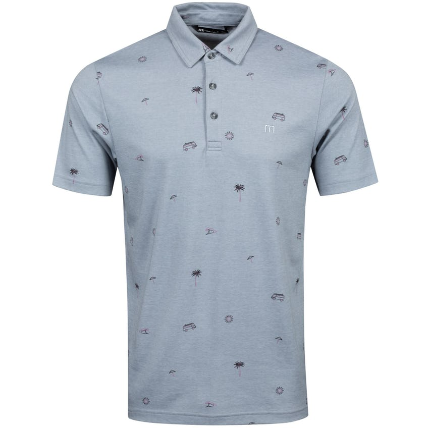 Drive Down Polo Shirt Heather Quiet Shade - SS21