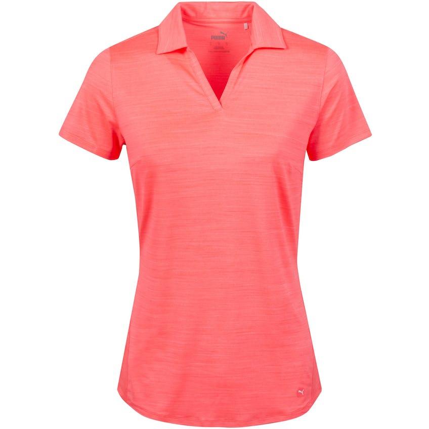 Womens Cloudspun Free Polo Shirt Ignite Rose Heather 0