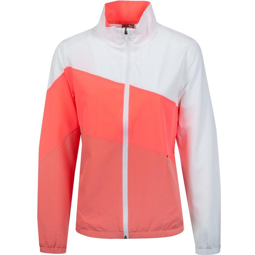Womens W Track Jacket Georgia Peach/Ignite Rose 0