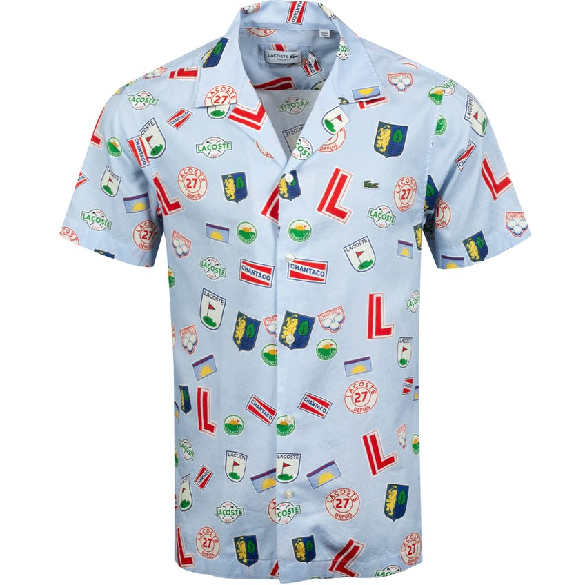 Hawaiian Print Cotton Polo Shirt