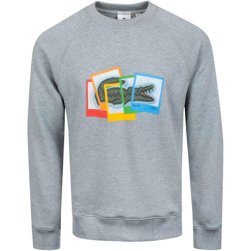 Polaroid Collaboration Loose Fit Sweatshirt Grey 0