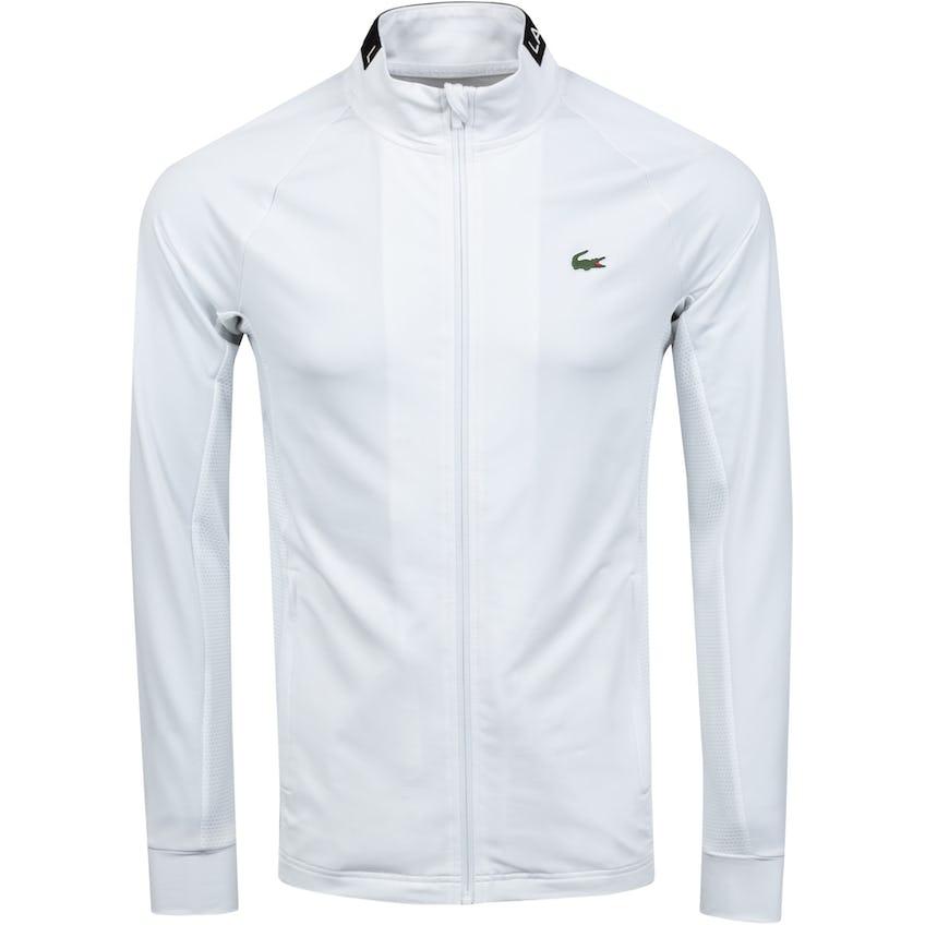 Breathable Full Zip Midlayer White