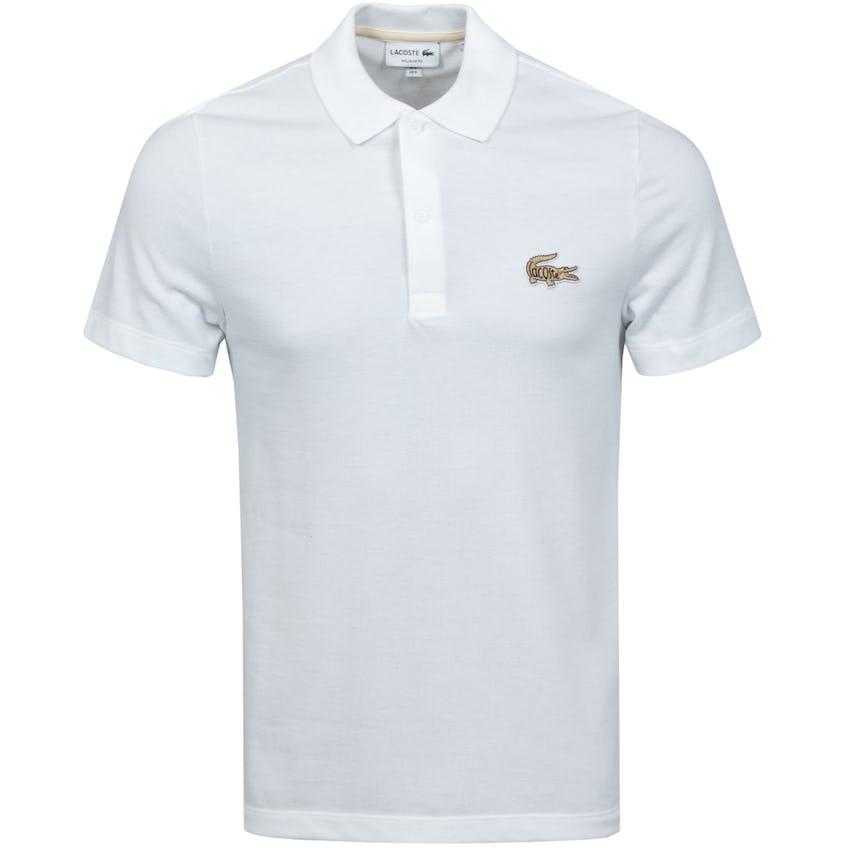 Regular Fit Cotton Pique Polo White