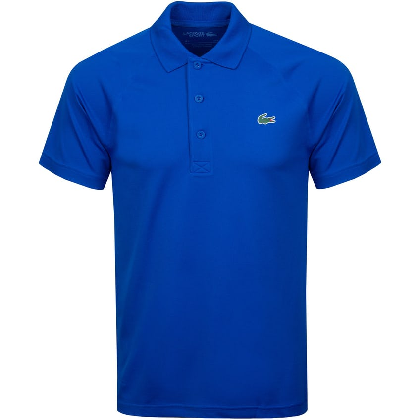 Breathable Run-Resistant Interlock Polo Shirt Blue