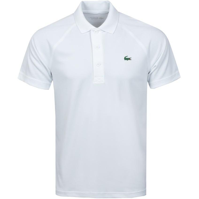 Breathable Run-Resistant Interlock Polo Shirt White