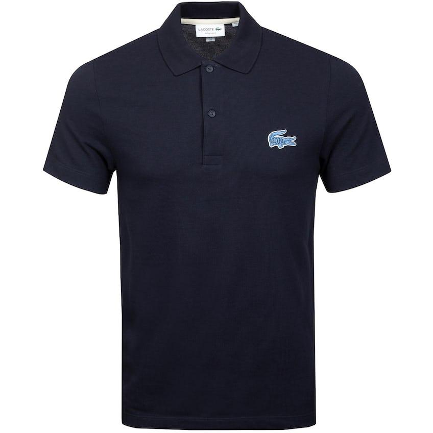 Regular Fit Cotton Pique Polo Navy