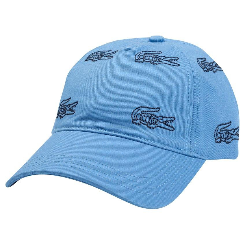 Croc Print Cap Blue