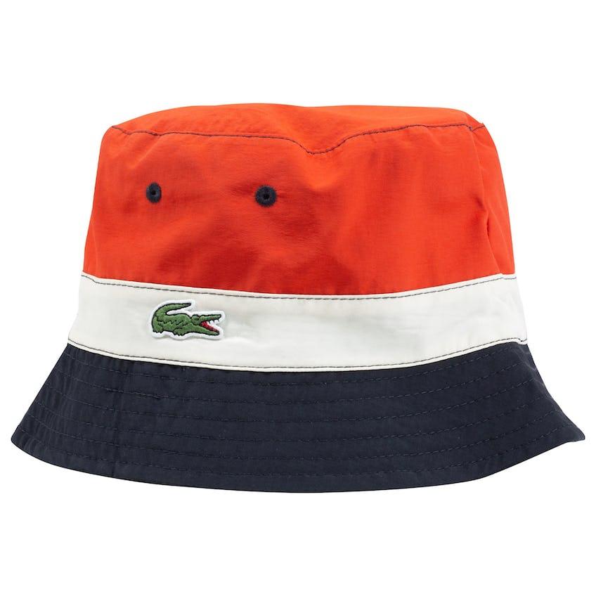 Lightweight Reversible Colorblock Bucket Hat Beige/Navy/Red 0
